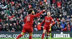Stan Collymore, ex jugador del Liverpool, cree que los 'reds' son favoritos ante el Atleti. AFP