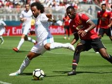 Timothy Fosu-Mensah au marquage de Marcelo du Real Madrid. Goal