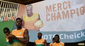 La Côté d'Ivoire a rendu hommage à son joueur. AFP
