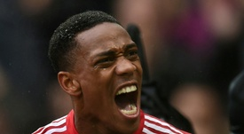 Anthony Martial podría abandonar el United por falta de oportunidades. AFP/Archivo