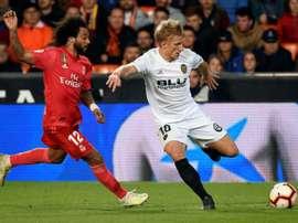 Le Real Madrid perd à Valence et du terrain. AFP