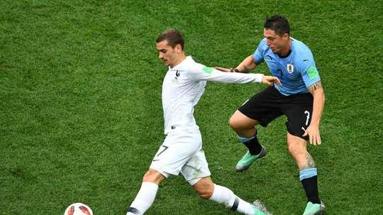 Tras el Mundial, Francia y Uruguay volverán a verse las caras. AFP