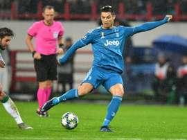 CR7 avait quitté le terrain agacé contre Milan. AFP