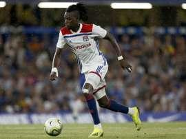 L'attaquant de Lyon Bertrand Traoré. AFP