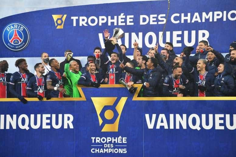 Icardi y Neymar llevan al PSG a lo más alto de Francia. AFP