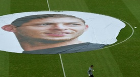 L'hommage du FC Nantes à Emiliano Sala, un an après sa disparition. AFP