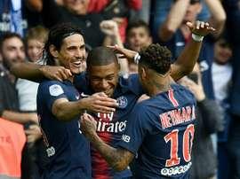 Retour de Neymar et Cavani face à Monaco. AFP