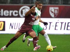 El Metz es noveno, mientras que el Saint-Étienne baja al puesto número 13. AFP