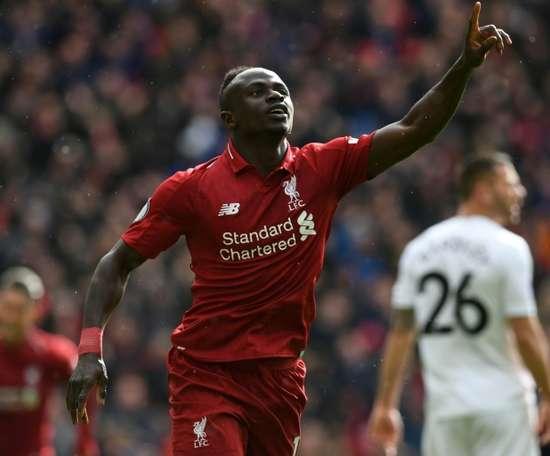Mané e Firmino foram os responsáveis da remontada do Liverpool. AFP