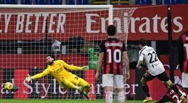 La Juve ganó 1-3 al AC Milan. AFP