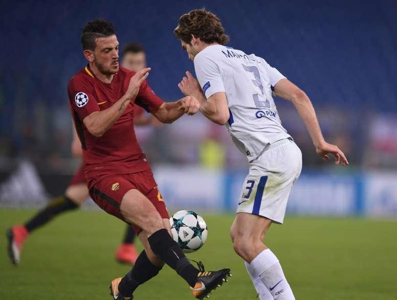 Florenzi quiere seguir vistiendo los colores de la Roma. AFP