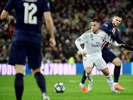 Roberto Martínez mostrou estar otimista com a recuperação de Eden Hazard. AFP