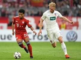 Serge Gnabry réalise une grande saison en Bavière. AFP