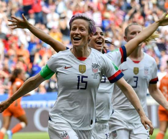 Rapinoe criticised underinvestment. AFP