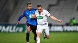 Flavien Tait enfin d'attaque avec Rennes. AFP
