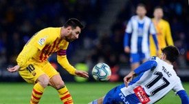 El derbi de Messi. AFP