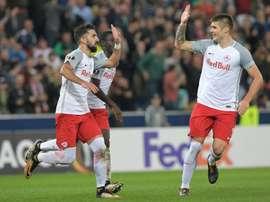 O Red Bull Salzburg bateu o Marseille por 1-0. AFP