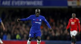 El Chelsea quiere blindar a Kanté. AFP