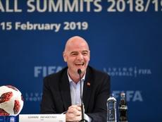 Infantino ne perd pas espoir et aimerait que le Mondial 2022 se joue à 48 équipes. AFP
