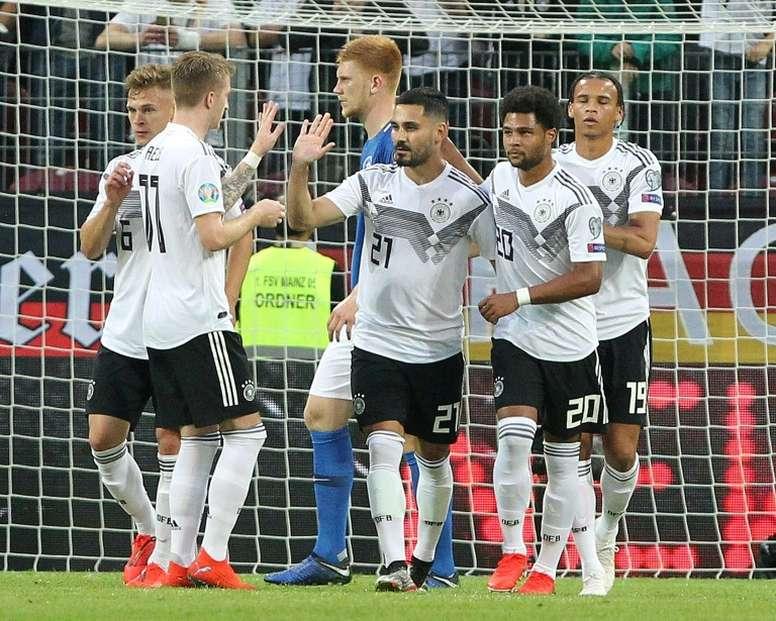 Gündogan a été applaudi par le public allemand. AFP