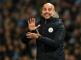 Pep Guardiola, treinador do Manchester City. EFE