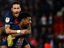 Deux objectifs pour Neymar. AFP