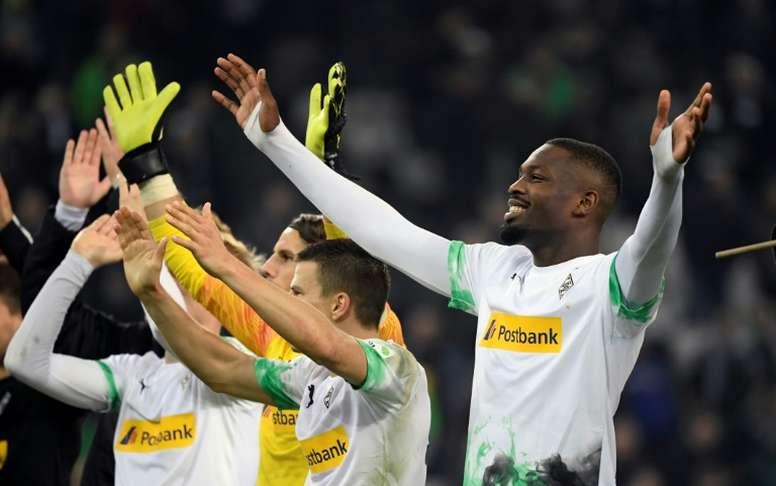 Thuram élu joueur de la saison au Borussia Mönchengladbach. AFP
