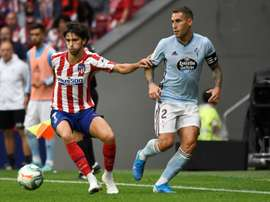 His first coach believes Joao Felix (L) would have been better at City or Barca. AFP