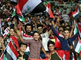 Pour la joie des supporters, l'équipe d'Irak joue à domicile pour la première fois depuis 2013. AFP