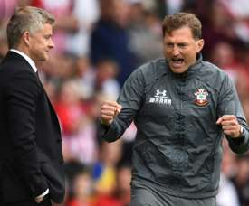 O Southampton tentará renovar com Hasenhuttl. AFP