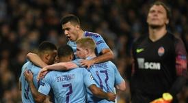 Le grand huit pour Manchester City. AFP