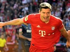 Neuf buts en 5 matches, Lewandowski affole les compteurs. AFP