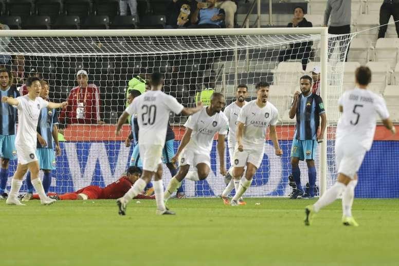 L'Al-Sadd de Xavi en quart de finale face à Monterrey. AFP
