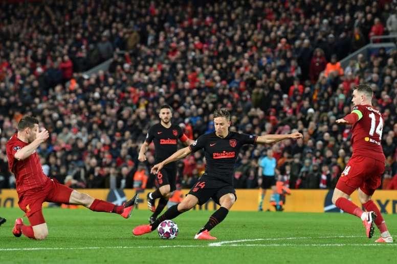 Vuelven a criticar el Liverpool-Atlético. AFP
