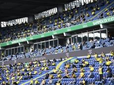 Au Danemark, des supporters retrouvent les gradins . AFP