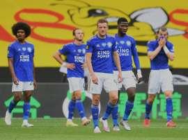 Vardy a marqué cinq buts en trois matchs. AFP