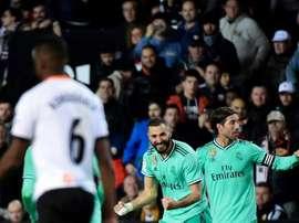 Valencia e Real Madrid guardaram o melhor para o final. AFP