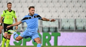 La Lazio se divierte en la gala de Immobile. AFP