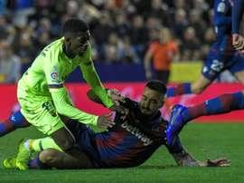 Défaite pour le Barça. AFP