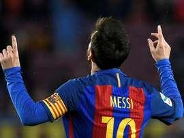 E vão 502 gols do camisa 10 pelo Barcelona. AFP