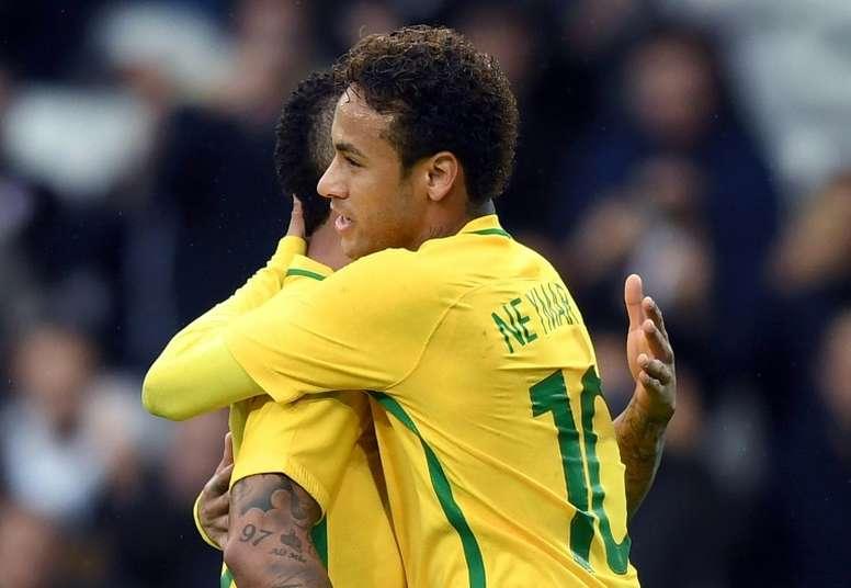 Neymar fait tout pour revenir pour la Coupe du monde. AFP