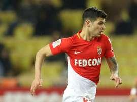 Pietro Pellegri a inscrit son premier but avec Monaco. AFP