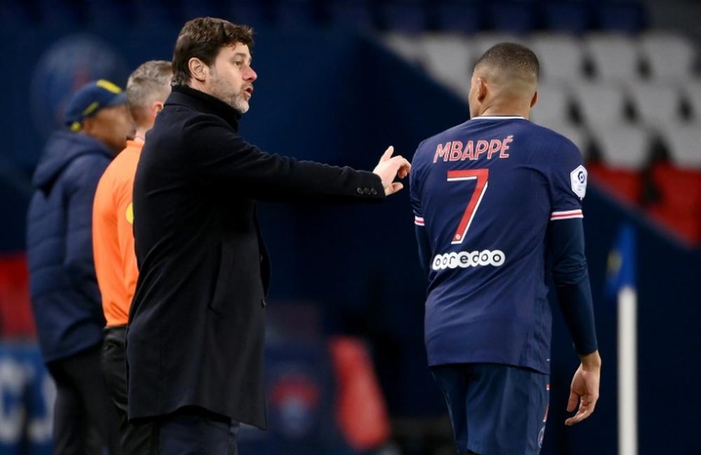 Pochettino habló sobre el futuro de Mbappé. AFP