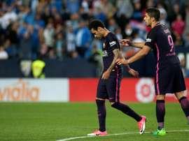 Barcelona esteve muito mal na La Rosaleda. AFP
