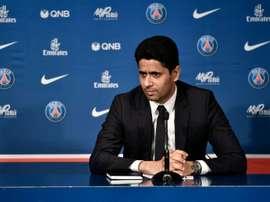 Nasser Al Khelaifi quiere al PSG en lo más alto del fútbol mundial. AFP