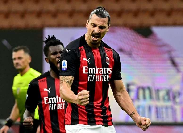 Ibrahimovic volta a estar disponível para o Milan. AFP