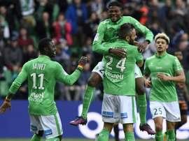 El Saint-Etienne se colocó quinto en la Ligue 1. AFP