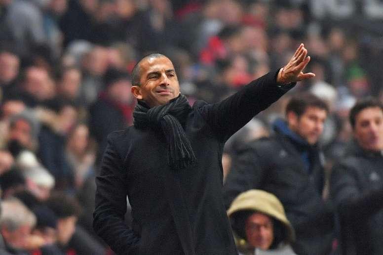 Sabri Lamouchi, l'entraîneur de Rennes. AFP