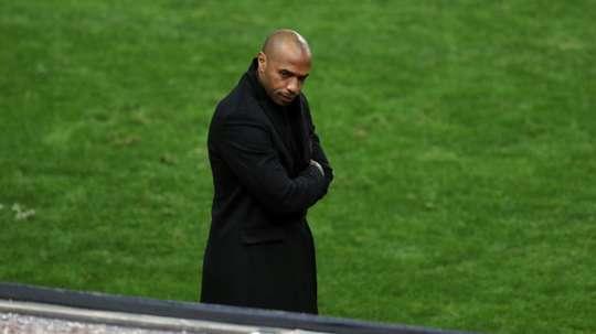 Thierry Henry, lors du match de phase de groupes. AFP