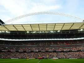 Une minute de silence à Wembley avant le début du match Angleterre-Lituanie. AFP